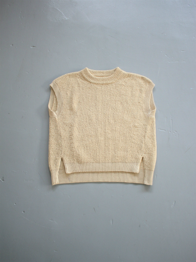 unfil cotton boucle ribbed-knit sweater / beige_b0139281_142615100.jpg