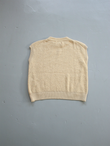 unfil cotton boucle ribbed-knit sweater / beige_b0139281_14262145.jpg