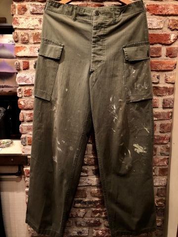"1940s \"" U.S ARMY \"" ALL cotton VINTAGE M-43 H.B.T FIELD CARGO PT ._d0172088_22342021.jpg"