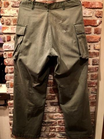 "1940s \"" U.S ARMY \"" ALL cotton VINTAGE M-43 H.B.T FIELD CARGO PT ._d0172088_22353852.jpg"