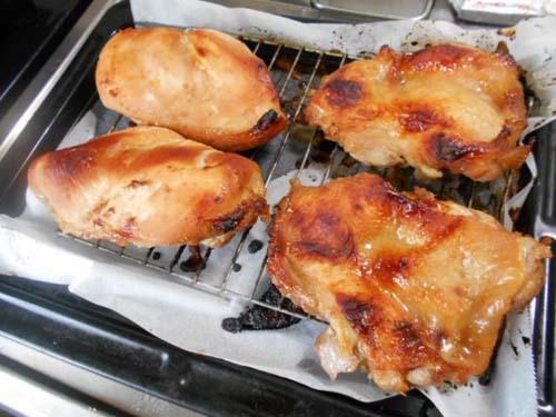 鶏のオーブン焼き&弟孫が学校を休んだ_f0019498_19545763.jpg