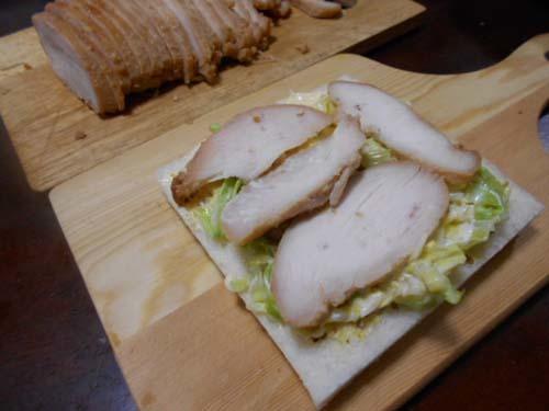 鶏むね肉オーブン焼きのサンドイッチ_f0019498_21122992.jpg