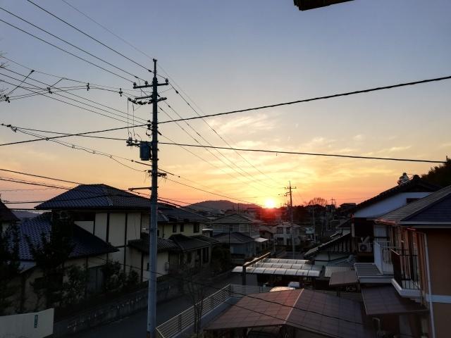 昨日の夕焼け_b0207631_09145660.jpg