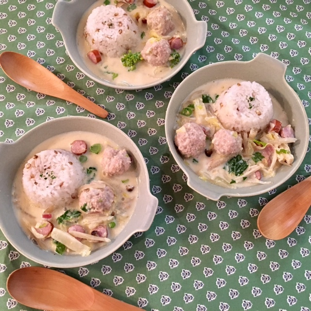 soup  豆乳×味噌×鶏だんご_a0165160_17254064.jpg