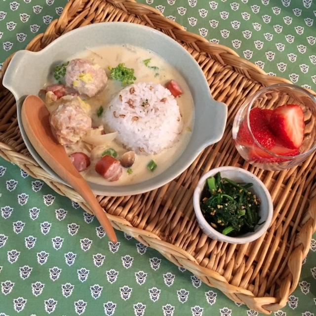 soup  豆乳×味噌×鶏だんご_a0165160_17271676.jpg
