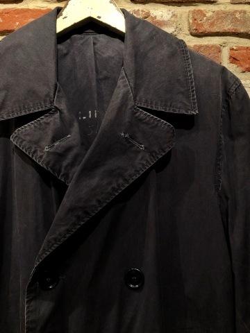 "1940s \"" U.S NAVAL \"" ALL cotton POPLIN - VINTAGE TRENCH COAT - D.NAVY - ._d0172088_20081830.jpg"