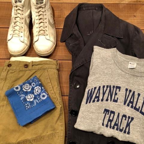"1940s \"" U.S NAVAL \"" ALL cotton POPLIN - VINTAGE TRENCH COAT - D.NAVY - ._d0172088_21284117.jpg"
