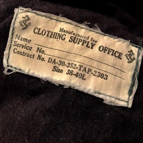 "1940s \"" U.S NAVAL \"" ALL cotton POPLIN - VINTAGE TRENCH COAT - D.NAVY - ._d0172088_21315039.jpg"