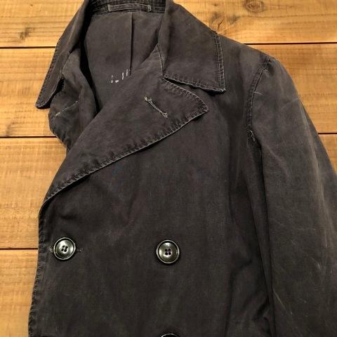 "1940s \"" U.S NAVAL \"" ALL cotton POPLIN - VINTAGE TRENCH COAT - D.NAVY - ._d0172088_21325101.jpg"