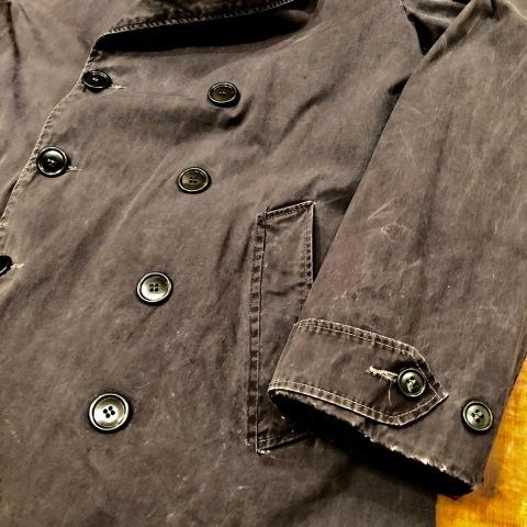 "1940s \"" U.S NAVAL \"" ALL cotton POPLIN - VINTAGE TRENCH COAT - D.NAVY - ._d0172088_21334553.jpg"
