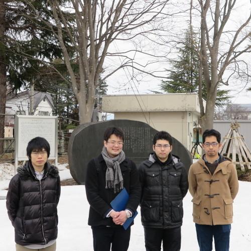 物質化学工学専攻博士前期2年、田中 隆馬君が3人と一緒に重文本館を見学_c0075701_20555953.jpg