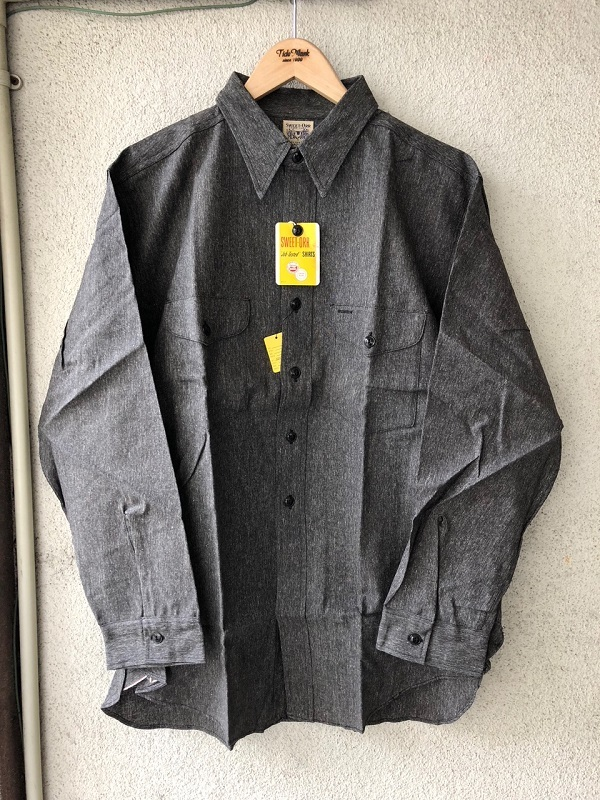 Dead Stock 1950\'s SWEET-ORR Black Chambray Shirt_c0146178_19042887.jpg