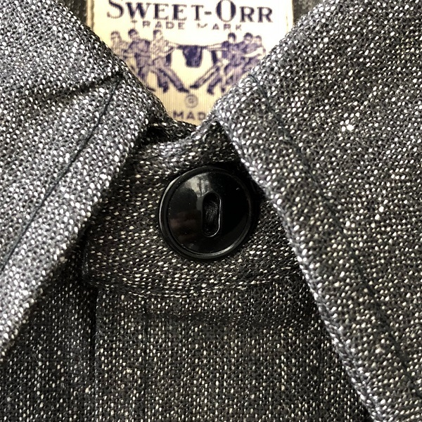 Dead Stock 1950\'s SWEET-ORR Black Chambray Shirt_c0146178_19045700.jpg