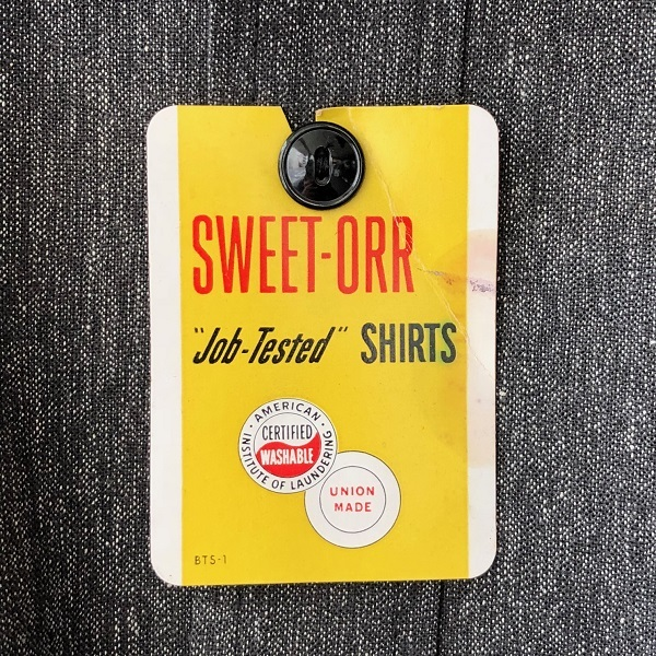 Dead Stock 1950\'s SWEET-ORR Black Chambray Shirt_c0146178_19051311.jpg