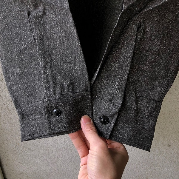 Dead Stock 1950\'s SWEET-ORR Black Chambray Shirt_c0146178_19055416.jpg