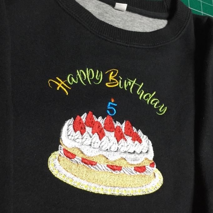 バースディケーキの刺繍_e0385587_19030965.jpeg