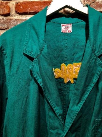 """1940-50s \"""" ARROW HEAD BRAND \"""" ALL cotton VINTAGE - Chain stitch - ENGINNER  JACKET ._d0172088_15580630.jpg"""