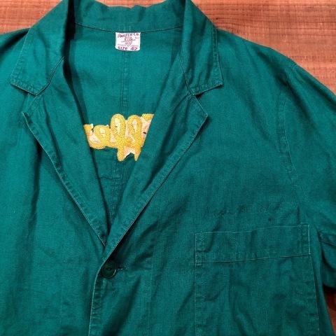 """1940-50s \"""" ARROW HEAD BRAND \"""" ALL cotton VINTAGE - Chain stitch - ENGINNER  JACKET ._d0172088_22110150.jpg"""