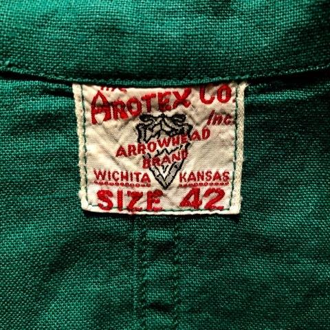 """1940-50s \"""" ARROW HEAD BRAND \"""" ALL cotton VINTAGE - Chain stitch - ENGINNER  JACKET ._d0172088_22125399.jpg"""