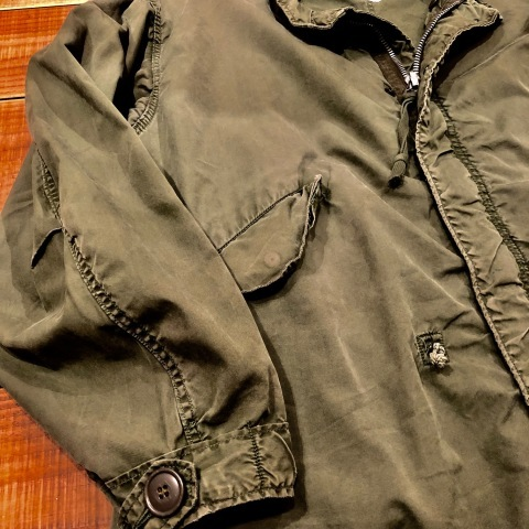 """1940-50s \"""" ARROW HEAD BRAND \"""" ALL cotton VINTAGE - Chain stitch - ENGINNER  JACKET ._d0172088_22182361.jpg"""