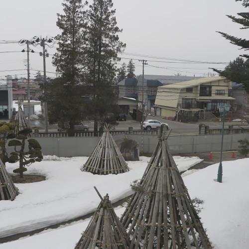 工学部正門塀の解体工事用フェンス(重文本館側)の組み立て 2016.2.27_c0075701_14560222.jpg
