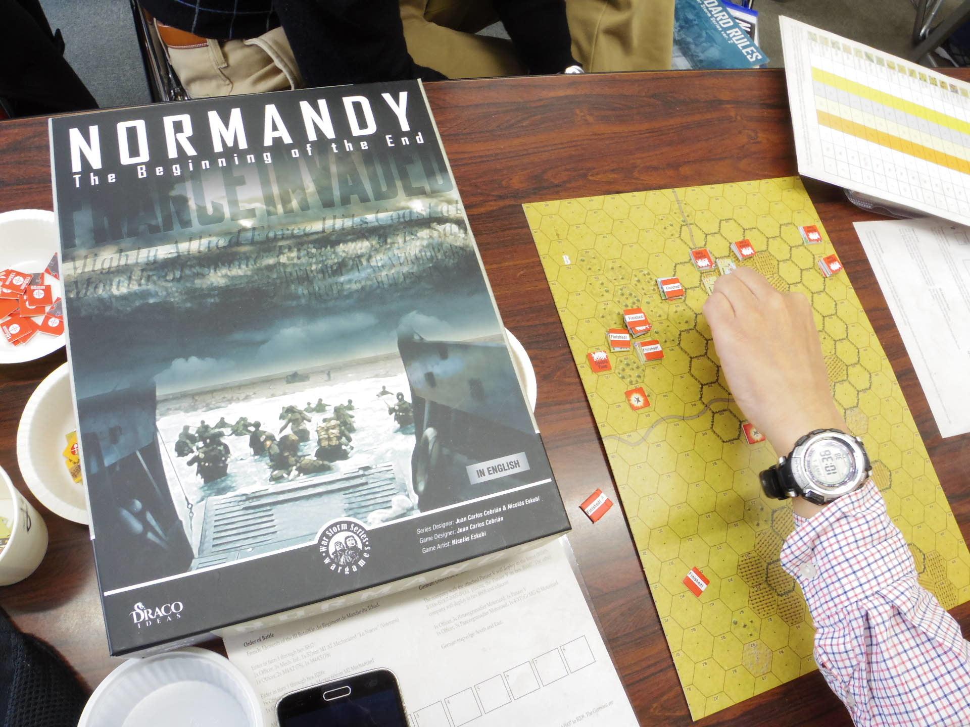 2019.01.05(土)YSGA新春初例会の様子その❶突貫和訳使用でいきなり(Draco Ideas)Normandy:The Beginning of the End_b0173672_22564552.jpg