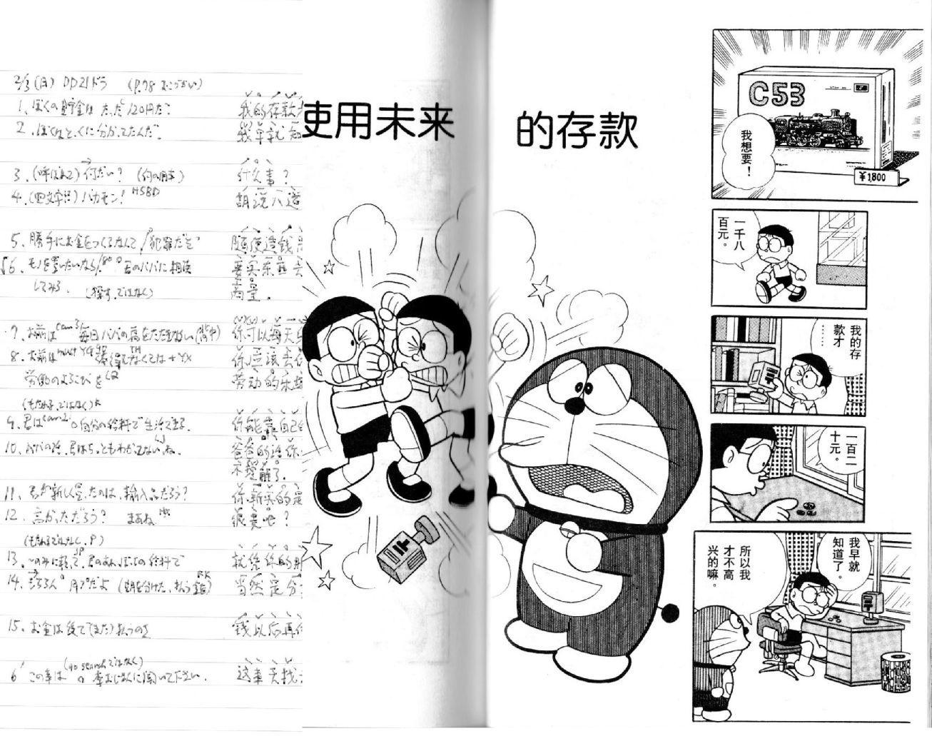 祝!2冊目の中文「ドラえもん/哆啦A梦-4」半分完了 (19年2月27日)_c0059093_12172697.jpg