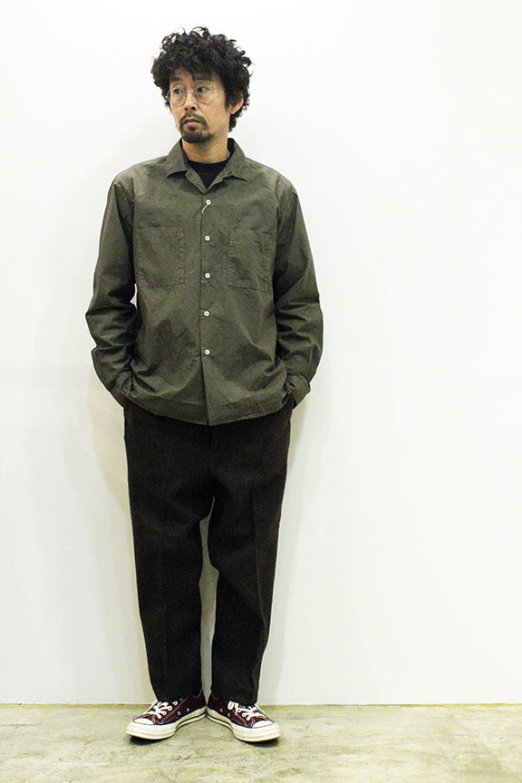 "MANUAL ALPHABET (マニュアル アルファベット) "" LOOSE FIT OPEN COLLAR SHT \""_b0122806_13464133.jpg"