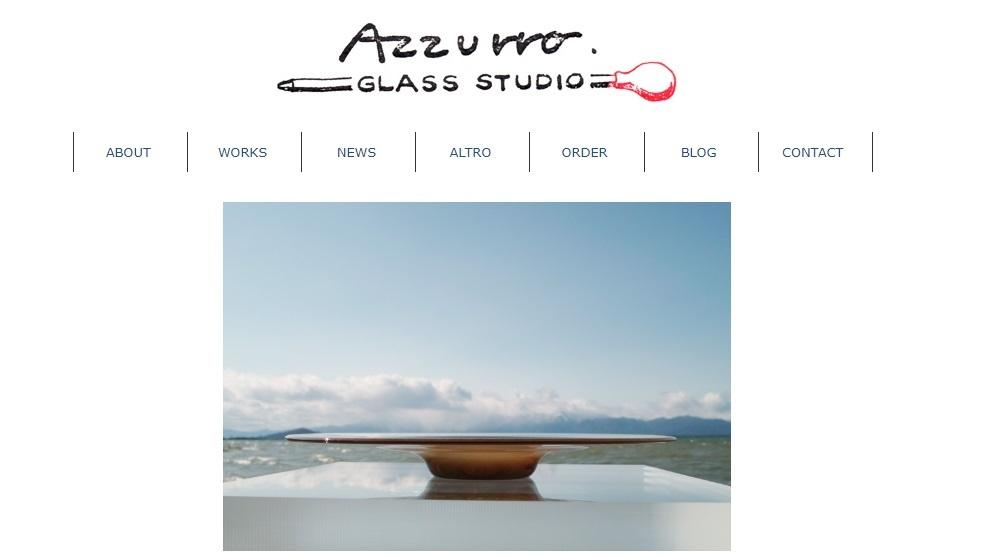 Azzurro Glass Studioのホームページが出来ました!_c0212902_09185256.jpg