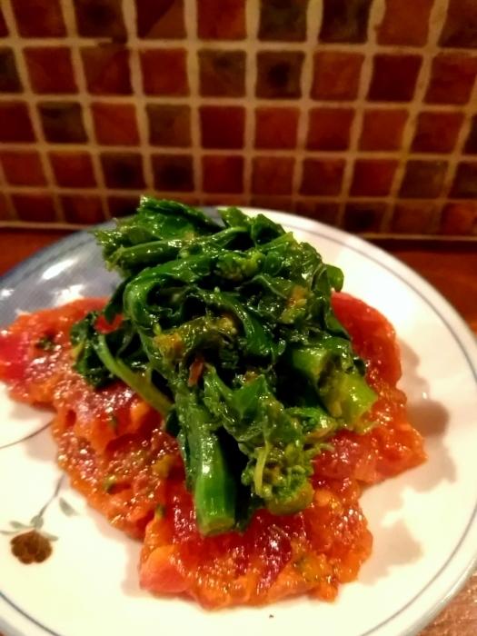 那覇・栄町 「アラコヤ」 美味!まぐろと季節野菜の辛みそあえ_c0362623_18222648.jpg