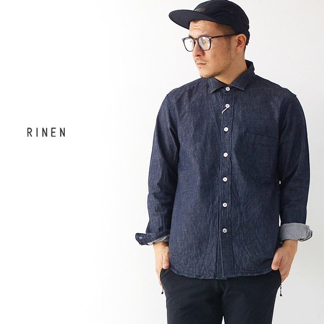 RINEN [リネン] 6オンス ノットインディゴデニムレギュラーカラーシャツ [38050] MEN\'S_f0051306_17590384.jpg
