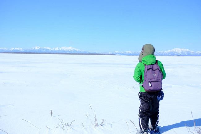 「真冬の知床羅臼根室の旅 野付半島 氷平線ウォーク」_a0000029_21421376.jpg
