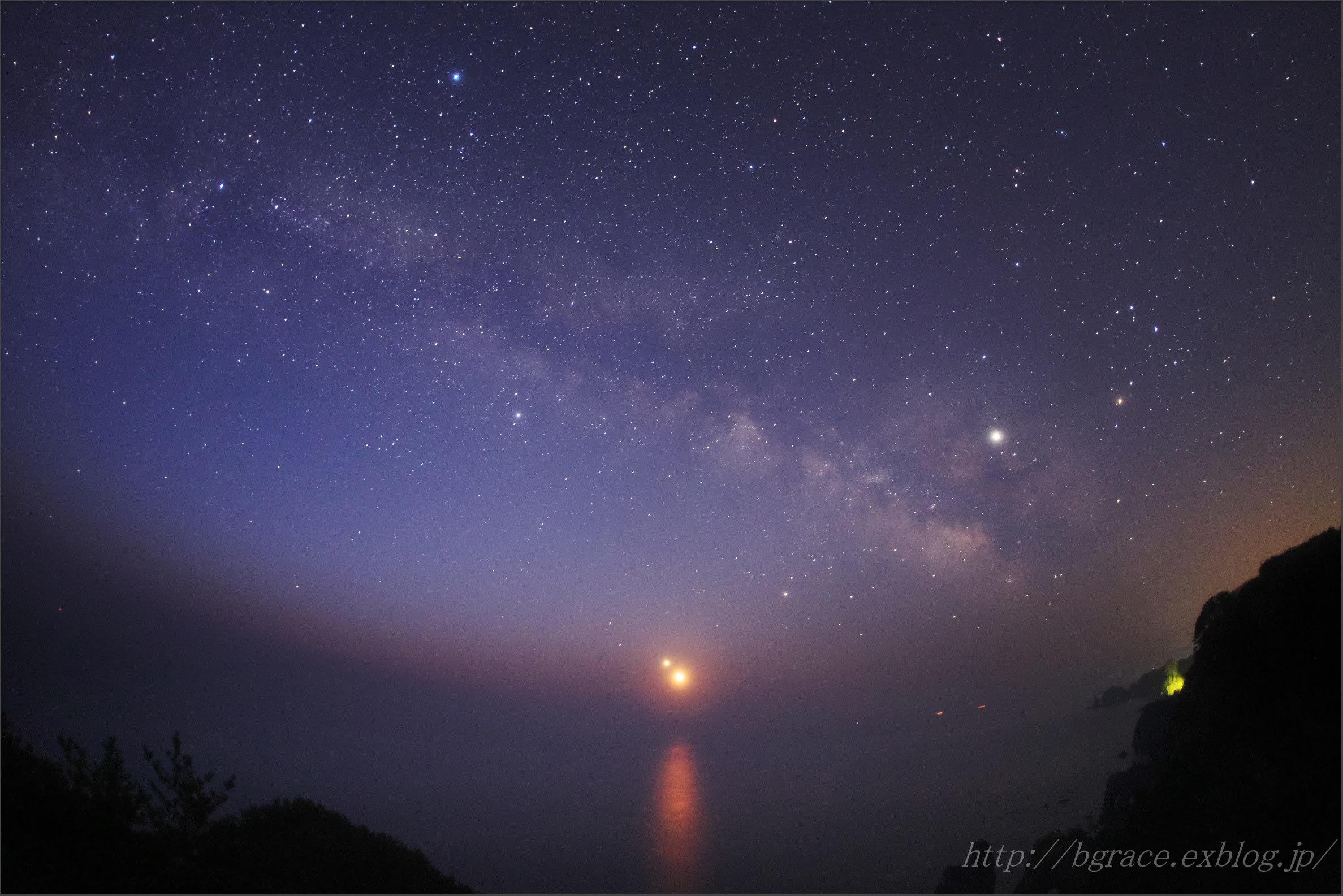 月と金星の大接近 / 夜明けの北山崎_b0191074_21340329.jpg
