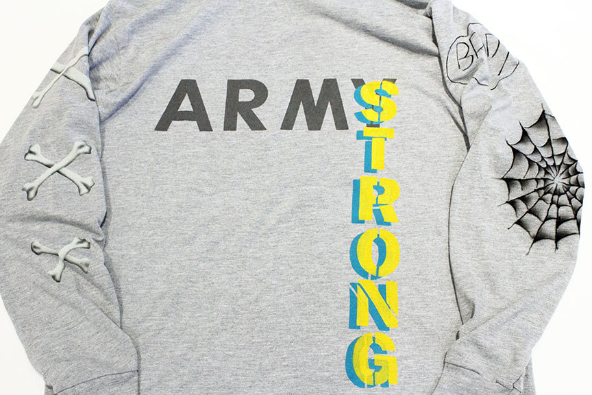 "HURRAY HURRAY (フレイ フレイ) "" ARMY STRONG MOCK NECK L/S TEE \""_b0122806_12535401.jpg"
