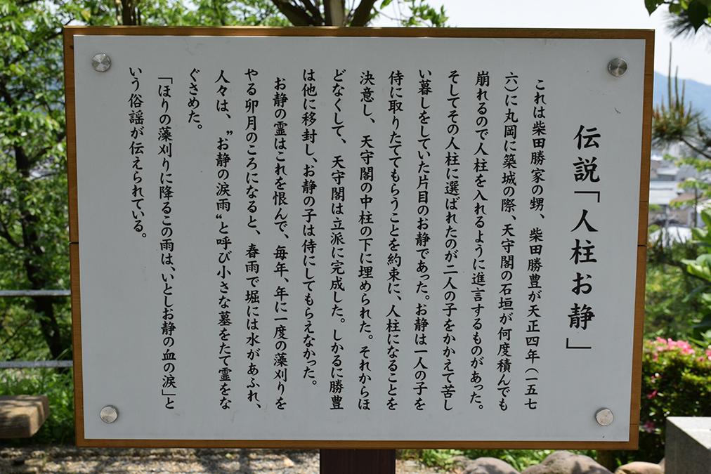 日本最古の現存天守、丸岡城を訪ねて。 その3 <本丸>_e0158128_10260796.jpg