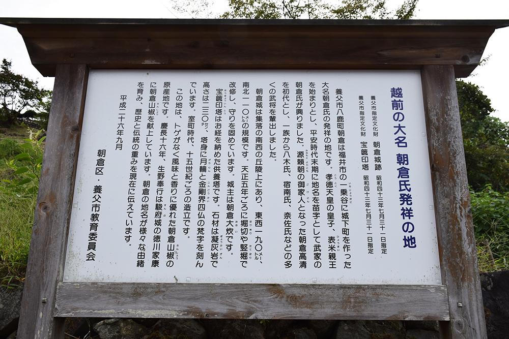越前朝倉氏発祥の地、但馬朝倉城跡を訪ねて。_e0158128_20431303.jpg