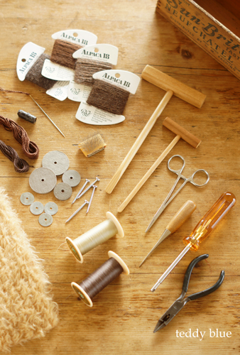 teddy bear making tools  テディのお道具_e0253364_22423219.jpg