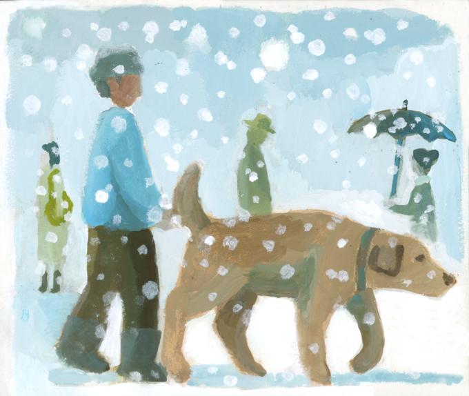 one scene 雪の町をゆく_b0194880_15274065.jpg