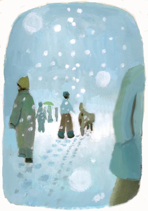 one scene 雪の町をゆく_b0194880_16055050.jpg