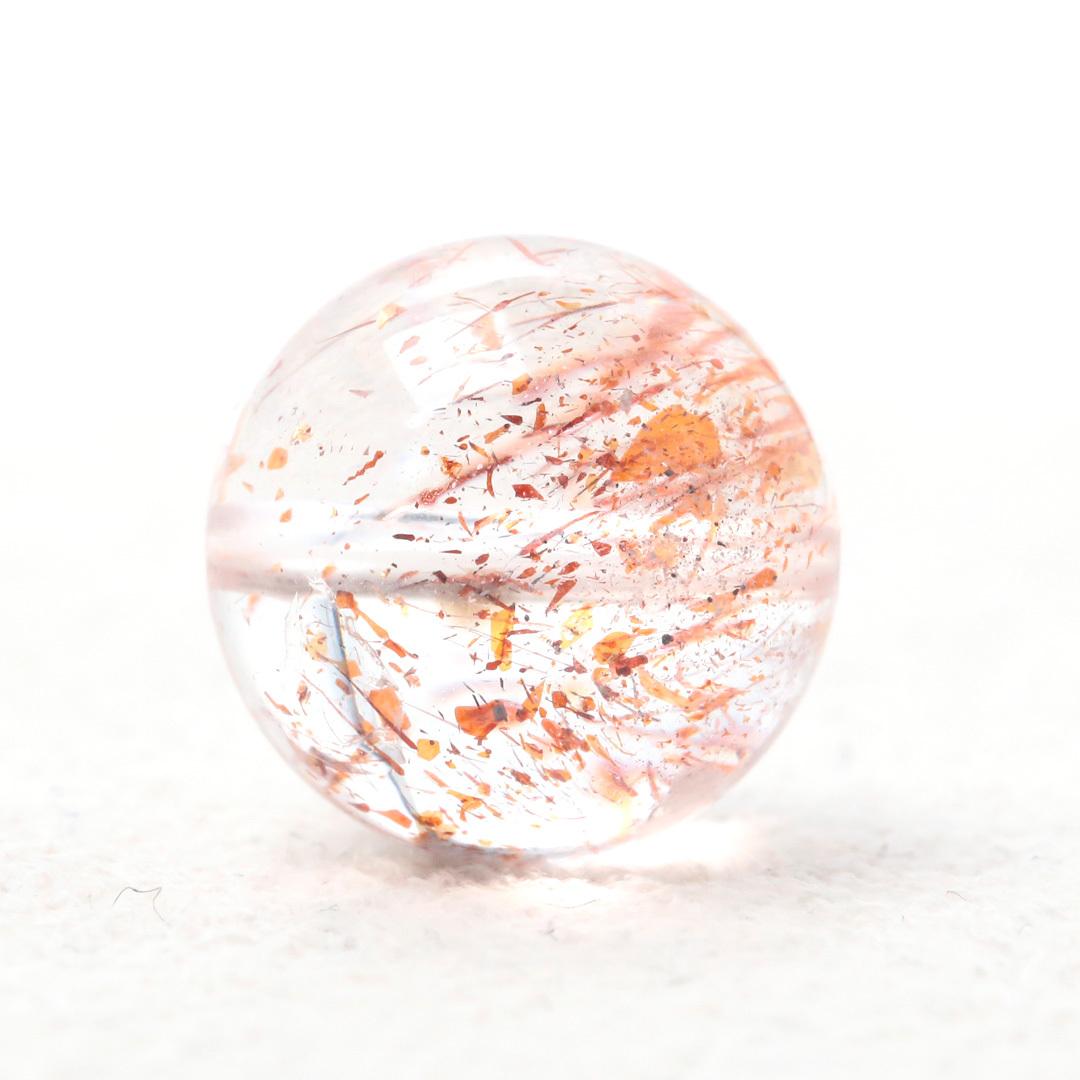レッドオレンジエレスチャルクォーツ ビーズ (動画がいっぱいです)_d0303974_16593748.jpg
