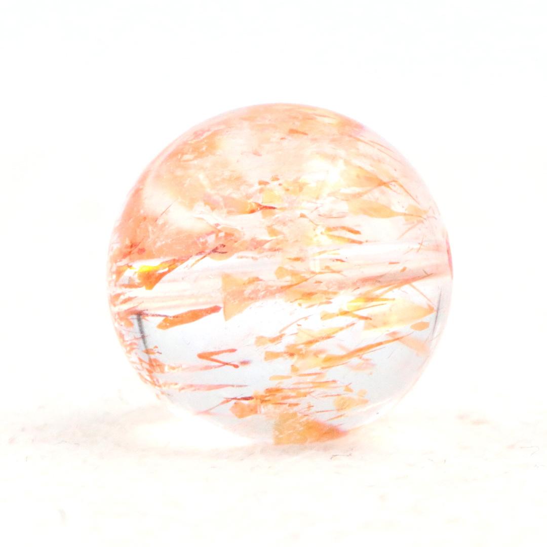 レッドオレンジエレスチャルクォーツ ビーズ (動画がいっぱいです)_d0303974_17201296.jpg