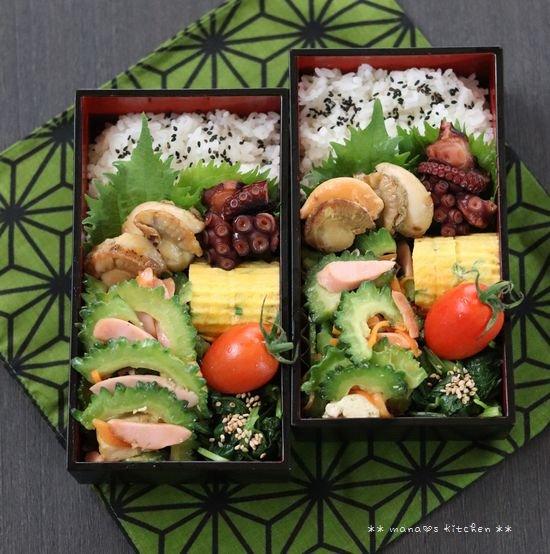 魚介とゴーヤー弁当♪_c0139375_1210276.jpg