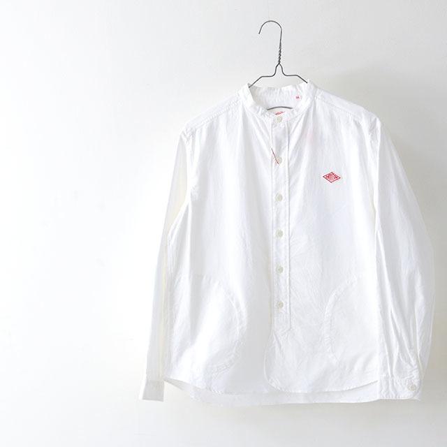 DANTON [ダントン] W\'s L/S OXFORD NO COLLAR SHIRTS [JD-3606YOX] ノーカラーシャツ・長袖バンドカラーシャツ・綿シャツ・長袖シャツ・LADY\'S_f0051306_15245265.jpg