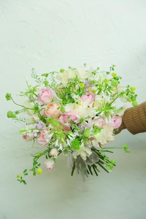 3月7日生花レッスン 春の小花がとぶとぶなブーケ メラスファエルラ!_a0042928_12531259.jpg