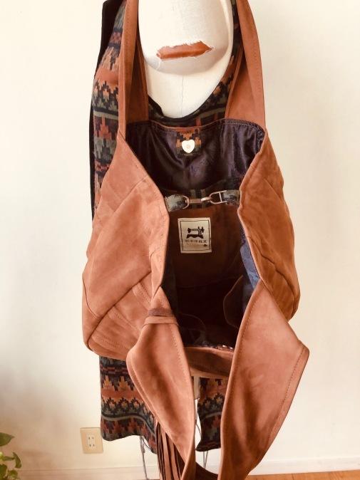 皮のコートをロングジレ&bagにリメイク!!2_d0127925_15014681.jpg
