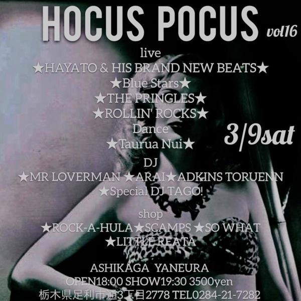 Hocus Pocus vol 16 ♪ASHIKAGA YANEURA♪3/9(土)ROCK-A-HULA出店します_c0187684_20411596.jpg