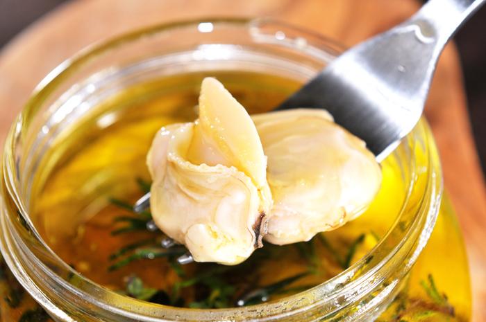 メシ通『魚介を使った簡単レシピ』 ☆ ハマグリをオイル漬けに!_d0069838_10241972.jpg