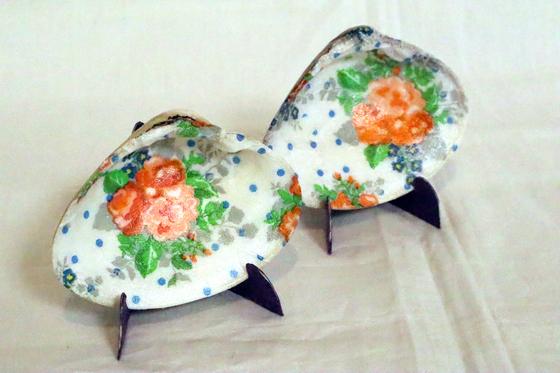 デコパージュ ~ 貝の絵皿 ~_e0222340_16143856.jpg