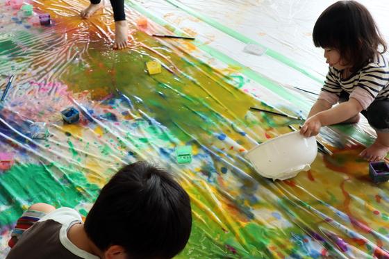 第5回こども美術教室 ~ 布に描く ~_e0222340_14475223.jpg