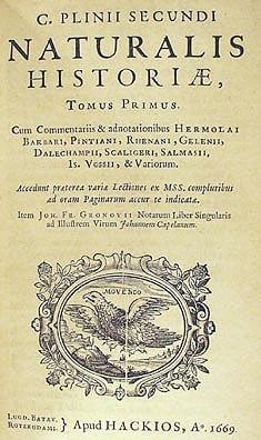 プリニウスの「博物誌」の初版本がデジタル化されて公開されていた_c0025115_22521197.jpg